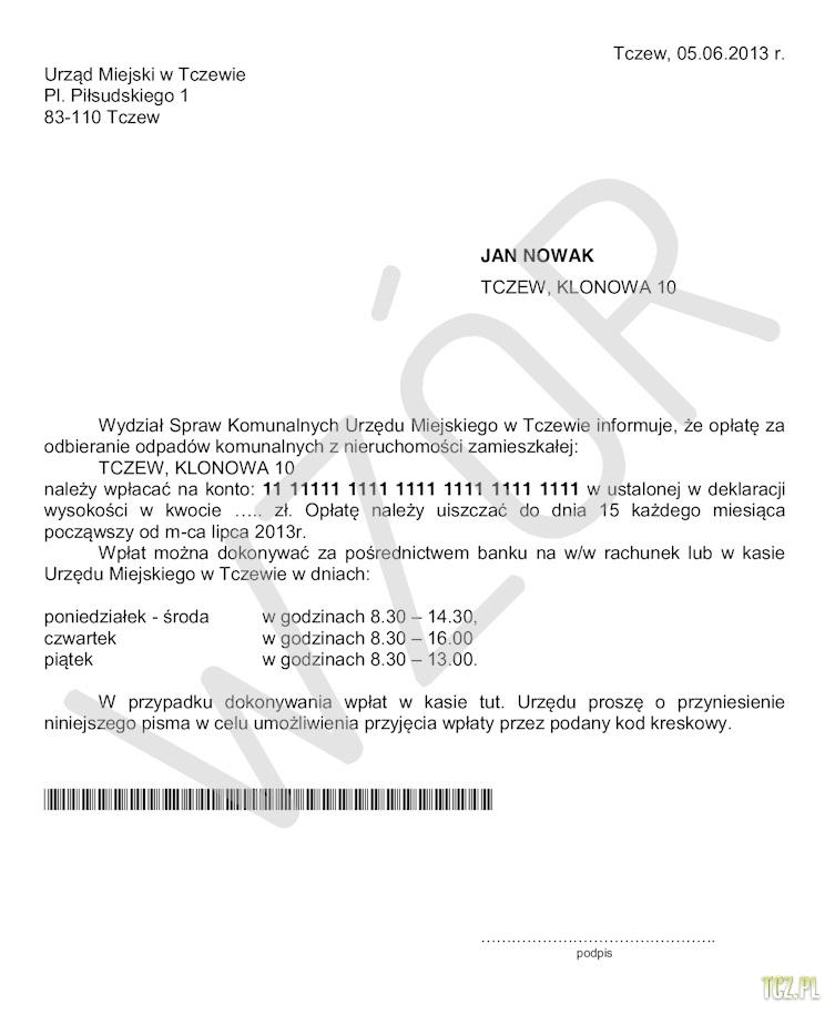 Tczew Opłaty Za śmieci Bez Prowizji W Banku Pko Sa I W Kasie
