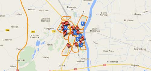 Tczew Miasto Mapa Miasta